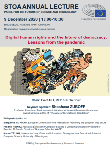 Digital human rights and the future of democracy: Lessons from the pandemic