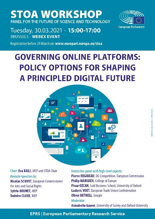 Principled governance of online platforms to safeguard social and labour rights
