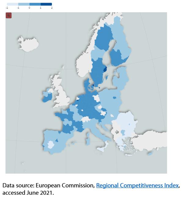 EU-27 RCI scores 2019