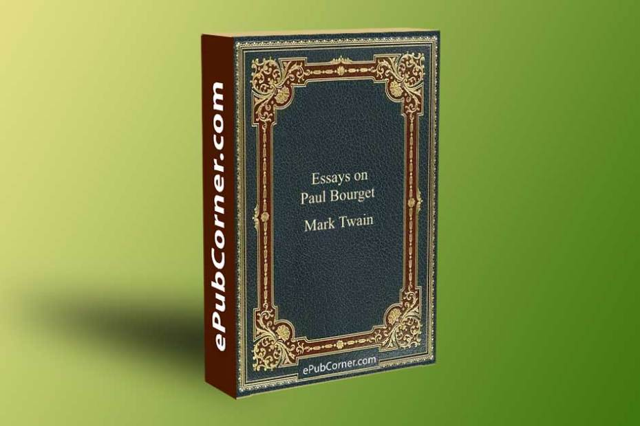Essays on Paul Bourget ePub download free