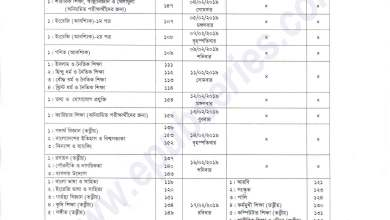 Photo of SSC Exam Routine Download Year 2019 All Board