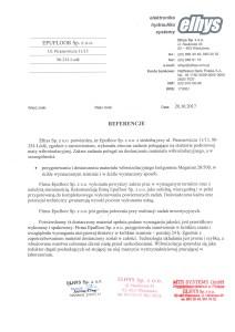 referencja Epufloor Akustyka