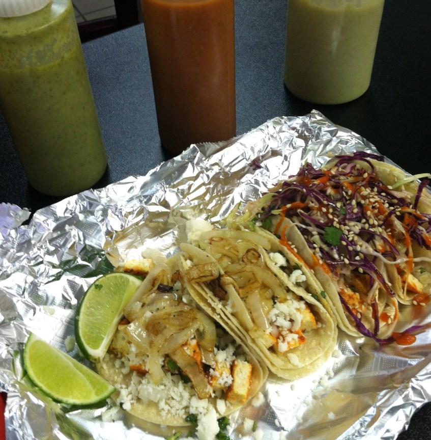 Tofu tacos at Tacoholics, Best Tacos