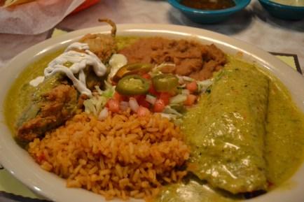 The veggie enchilada was really yummy!