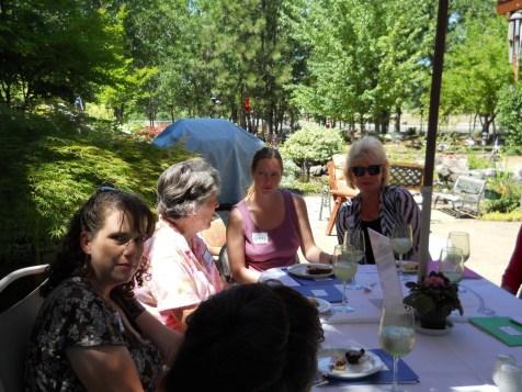 Tisha Oehmen, Carolyn Steiber, Ginny Stuart and Kathryn Shannon, both guests