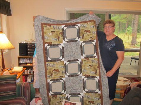 Dora shares her memorial quilt