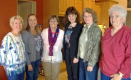 Janet Siedlecki, Mary Birrell, Joan Devlin, Terry Sheldon, Elaine Slate, and Betty Clement