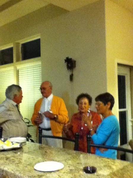 David Caulkins, Bob McIntyre, Ann Grossman and Kay Caulkins