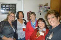 Brenda Cloney, Aleli Lawson, Joan Devlin, Connie Quiring and Joyce Todd