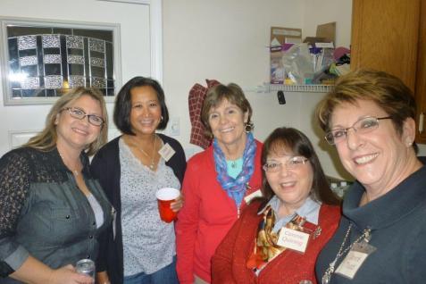 Brenda Cloney, Aleli Lawson, Joan Devlin, Connie Quiring and Joyce Todd