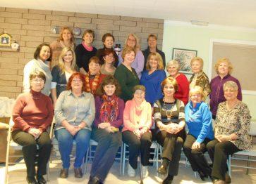 21 ladies for 3 -13 and potluck @ Maxine Williams