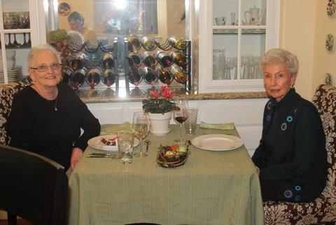 Outstanding hostesses- Marcia Liekkio and Jan Griffin