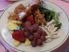 The buffet lunch was a feast fit for a queen. Lots of yummy, healthy choices.