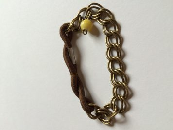 Chain and hair-tie bracelet.