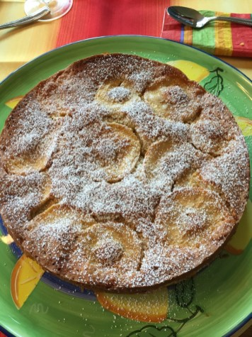 Apple cream torte.