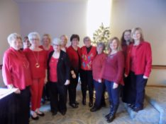 Night bunco group at the luncheon