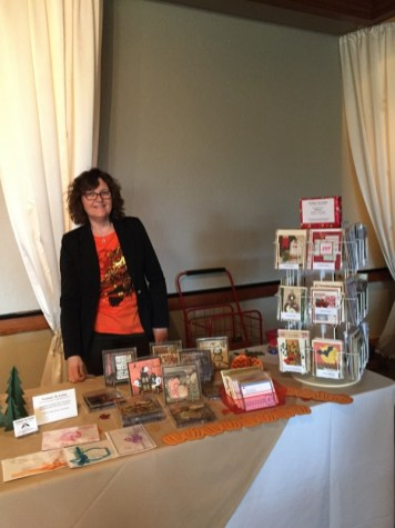 Kathy McCullar with her beautiful handmade cards