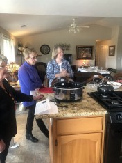 Gerene Leffingwell and Janice Kabel enjoying the recipe review