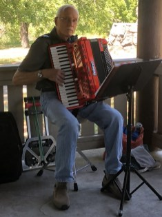 Richard Gyuro and his accordion