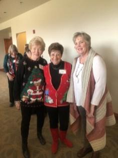Sue Buchanan, Anne Grossman, Kay Lund all loking very festive