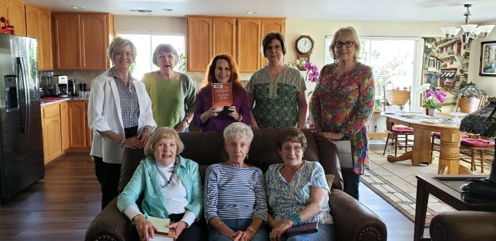 May Book Club group at Felker's