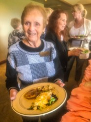 Terry Noble and her yummy lunch