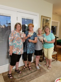 July Bunco Winners at the home of June Perry