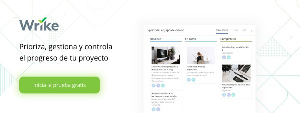 Prioriza, gestiona y controla el progreso de tu proyecto con Wrike