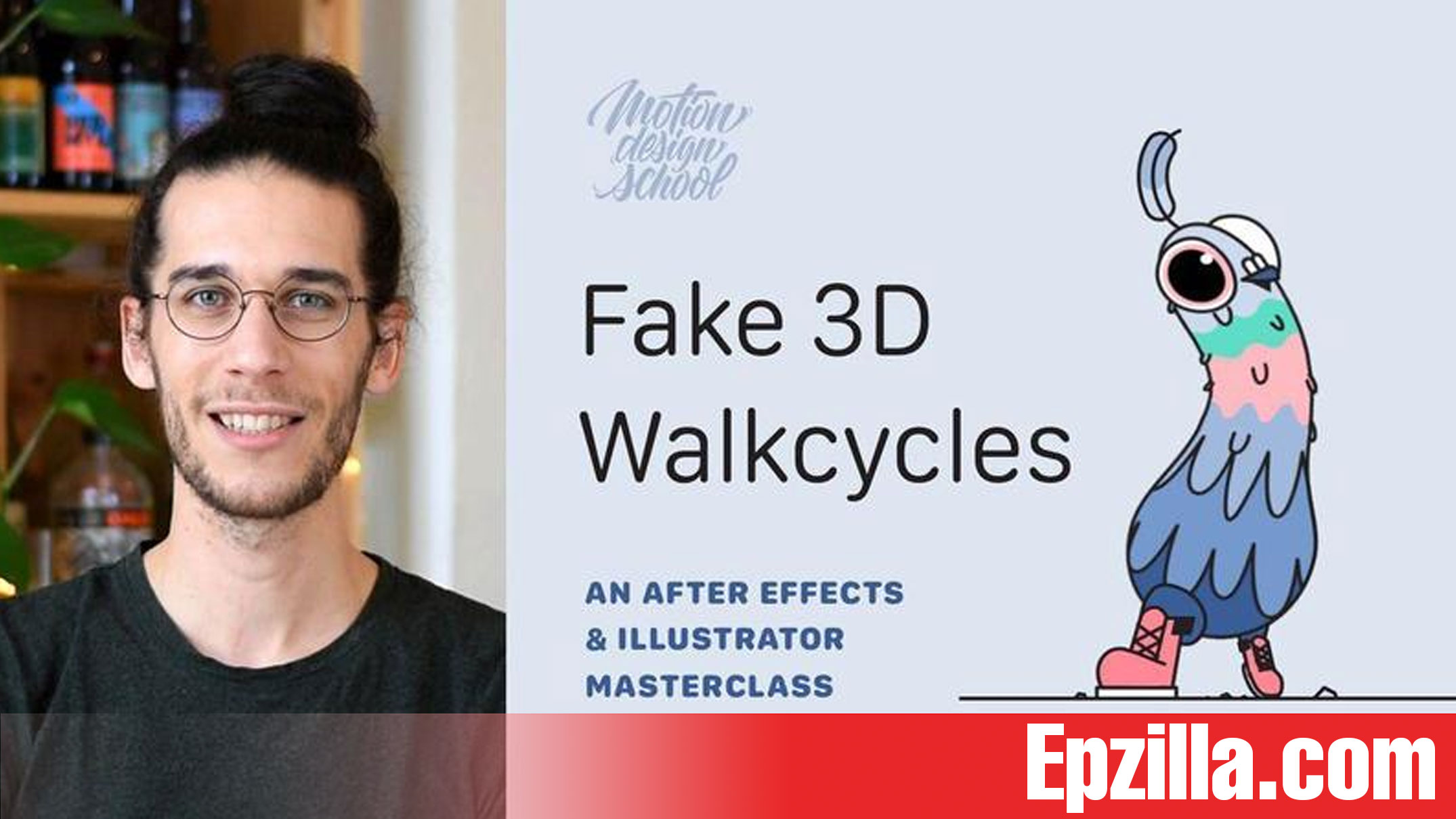 Motion Design School Fake 3D Walkcycles in After Effects Free Download Epzilla.com
