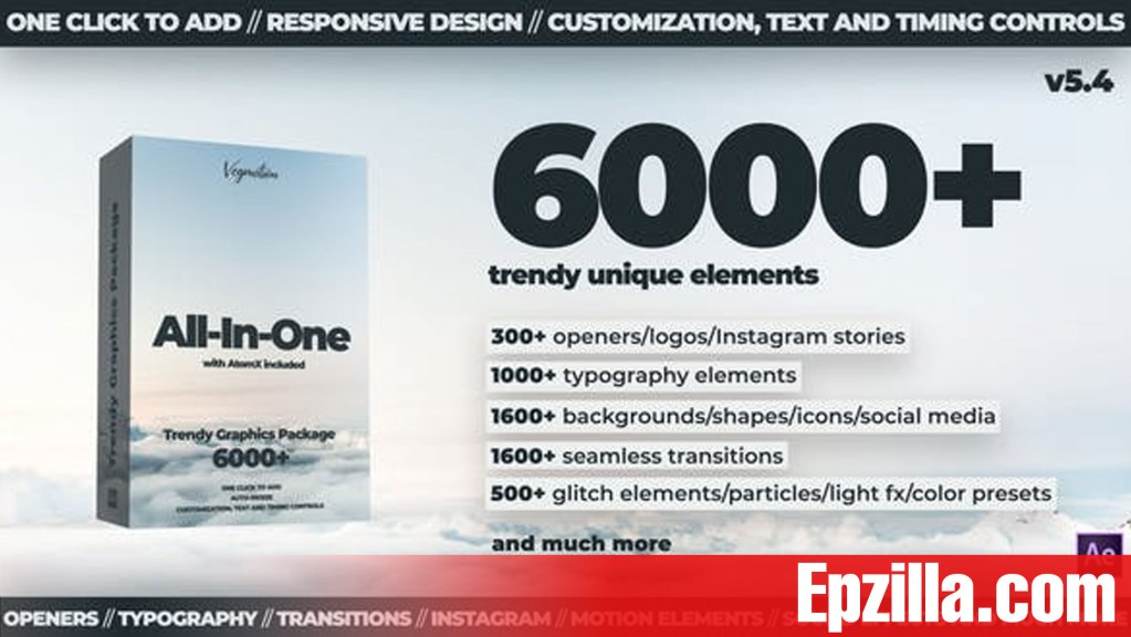 Videohive – AtomX 6000+ Graphics Pack V5.4 24321544