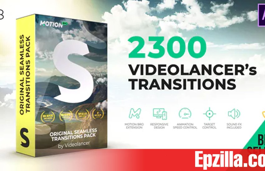 Videohive - Videolancer's Transitions | Original Seamless Transitions Pack V8 18967340 Free Download