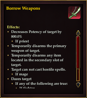 Effect - Borrow Weapons