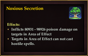 Effect - Noxious Secretion
