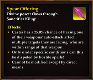 Effect - Spear Offering