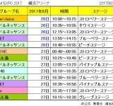 JAM EXPO 2017 横浜アリーナ グループ予定表