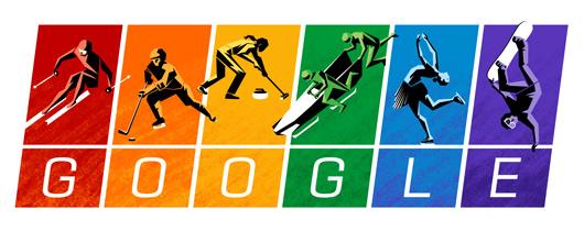 Google Sports Rainbow Olympic Logo