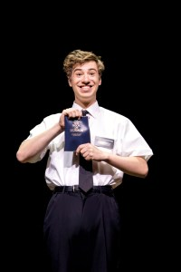 THE BOOK OF MORMON by Parker , Stone, , Writers – Trey Parker and Matt Stone, Music – Robert Lopez, Director – Casey Nicholaw, Design –Scott Pask, Costume design – Ann Roth, Lighting – Brian MacDevitt, London West End, 2014 , Credit: Johan Persson/