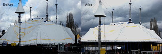 """Cirque du Soleil """"Luzia"""" tent raising"""