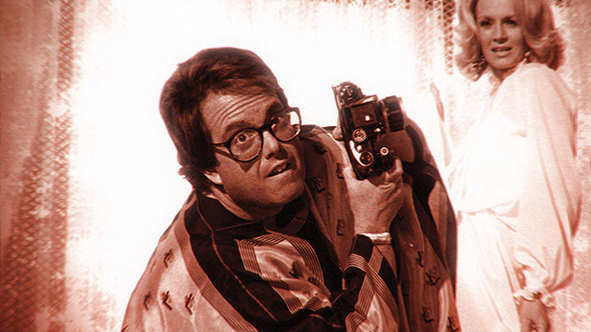 Allan Carr and Angie Dickinson