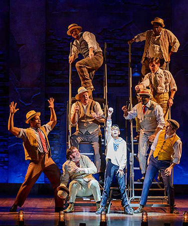 Coleman Hunter as The Little Boy and the Cast of Ragtime - Photo Credit Mark Kitaoka on equality365.com