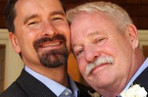 Armistead Maupin and his husband, Christopher Turner