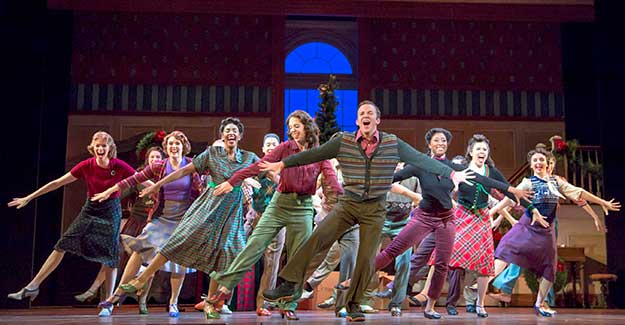 Eric Ankrim as Jim Hardy and the Cast of Irving Berlin's Holiday Inn - Photo Credit Tracy Martin