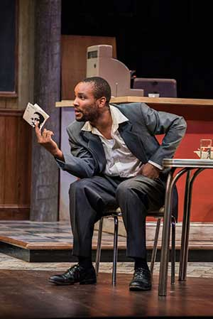"""Carlton Byrd (Sterling) in Seattle Repertory Theatre's production of August Wilson's """"Two Trains Running."""" Photo by Nate Watters. Equality365.com"""