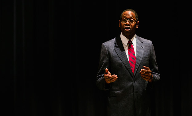 Eric Clausell in Thurgood at Broadway Center for the Performing Arts (Photo by Lisa Monet) on equality365.com