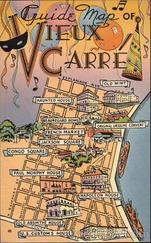 new orleans vieux carre map