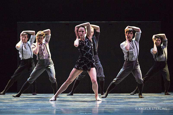 """Pacific Northwest Ballet's """"Little mortal jump"""" (photo by Angela Sterling) on equality365.com"""
