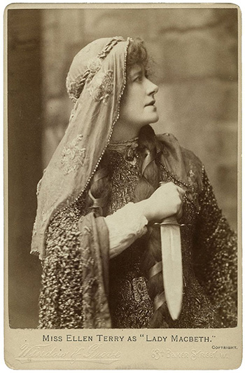 Photograph of Ellen Terry as Lady Macbeth, in 1888 production