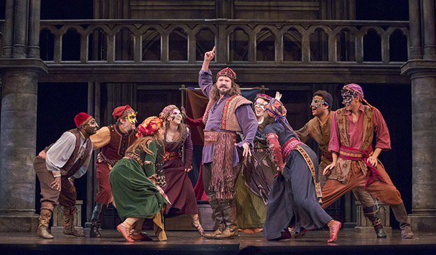 """Dane Stokinger as Clopin and the cast of """"The Hunchback of Notre Dame"""" (Photo Credit Tracy Martin)"""
