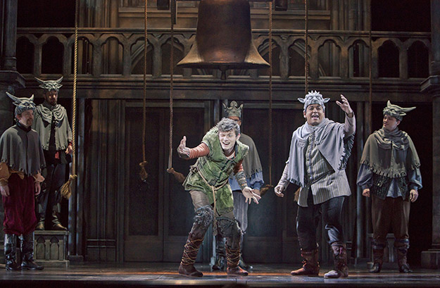 "Joshua Castille as Quasimodo and E.J. Cardona as the Voice of Quasimodo in ""The Hunchback of Notre Dame"" (Photo Credit Tracy Martin)"