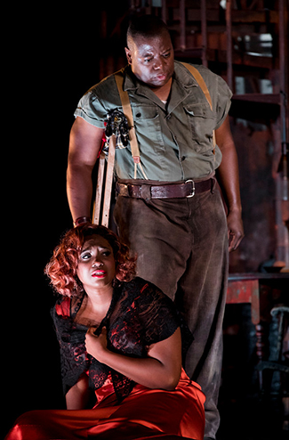 Angel Blue (Bess) and Alfred Walker (Porgy). (Photo by Philip Newton)